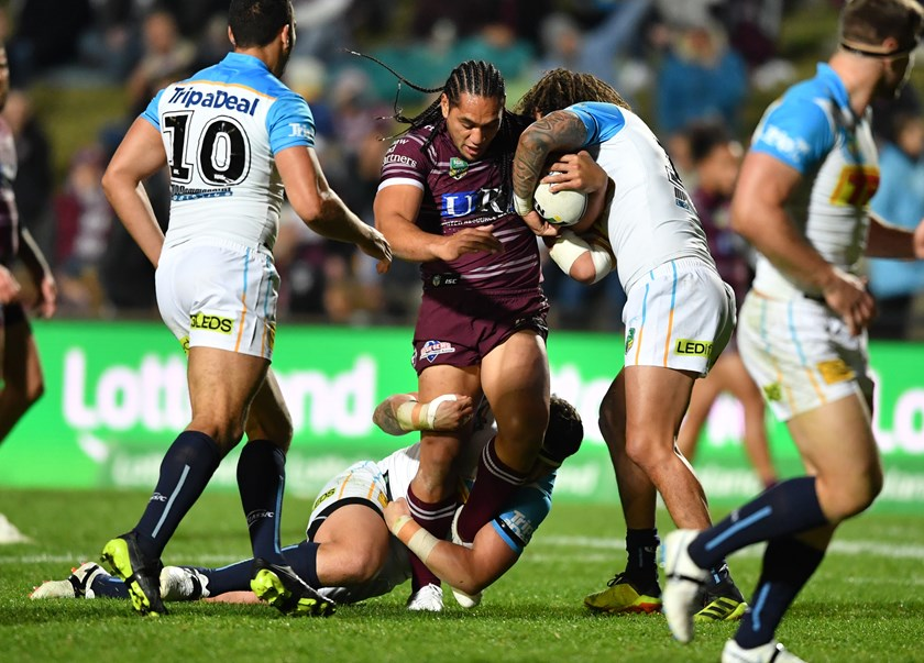 Manly prop Martin Taupau.