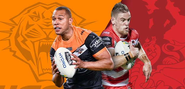 Wests Tigers v Dragons: Round 23 preview