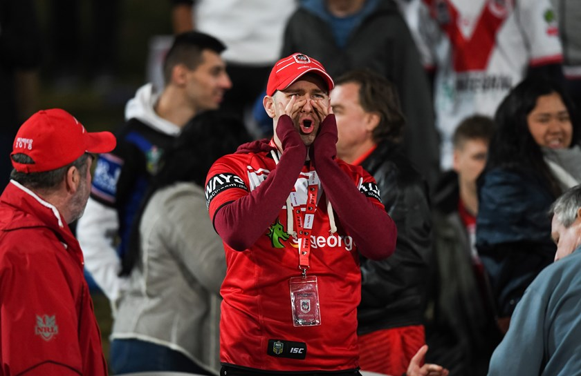 Dragons fans vented their anger after the loss to the Bulldogs.