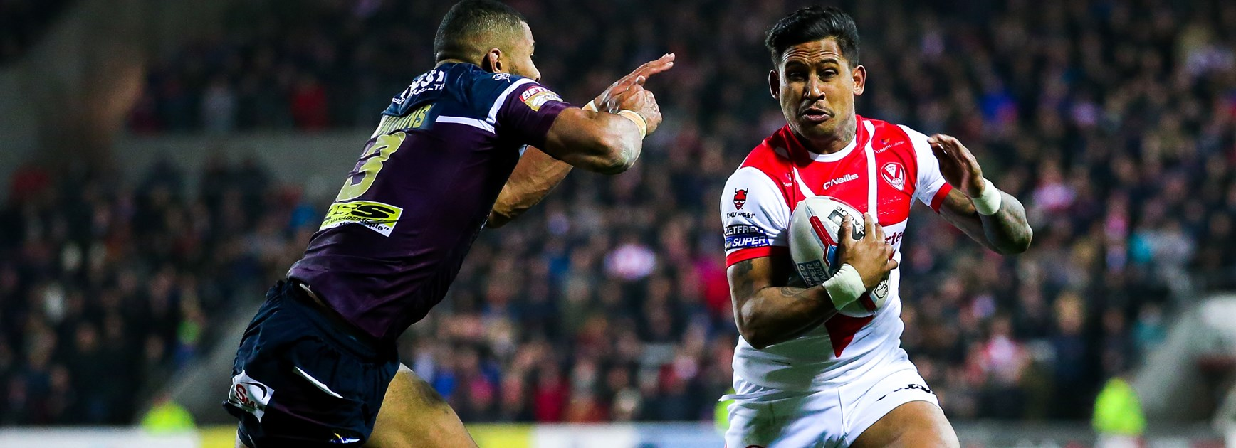 Ben Barba playing for St Helens.
