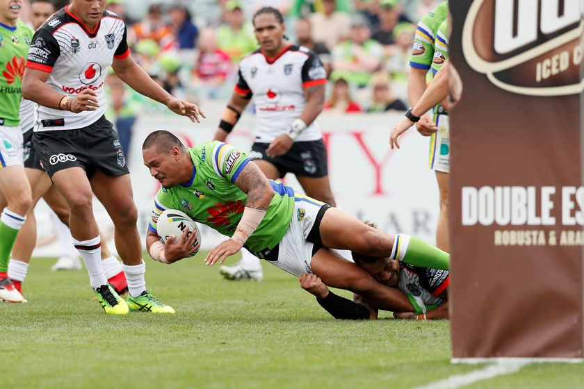 Canberra Raiders centre Joey Leilua.
