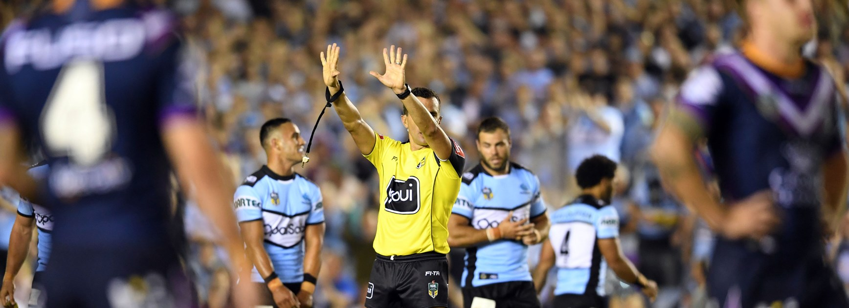 Cam Smith is sent to the sin-bin.