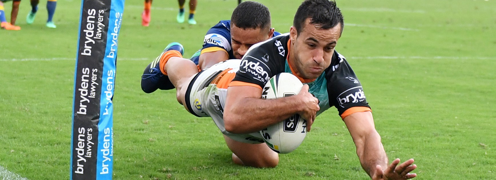 Wests Tigers winger Corey Thompson.