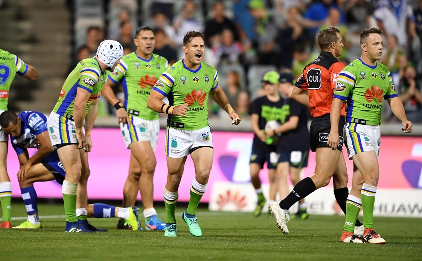 Canberra five-eighth Aidan Sezer.