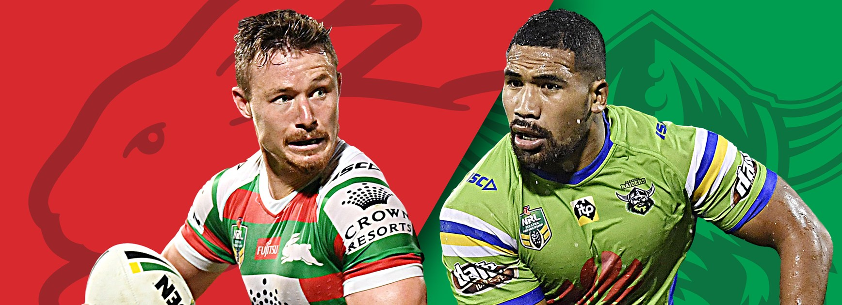 Rabbitohs v Raiders: Burgess back, Murray out against unchanged Raiders