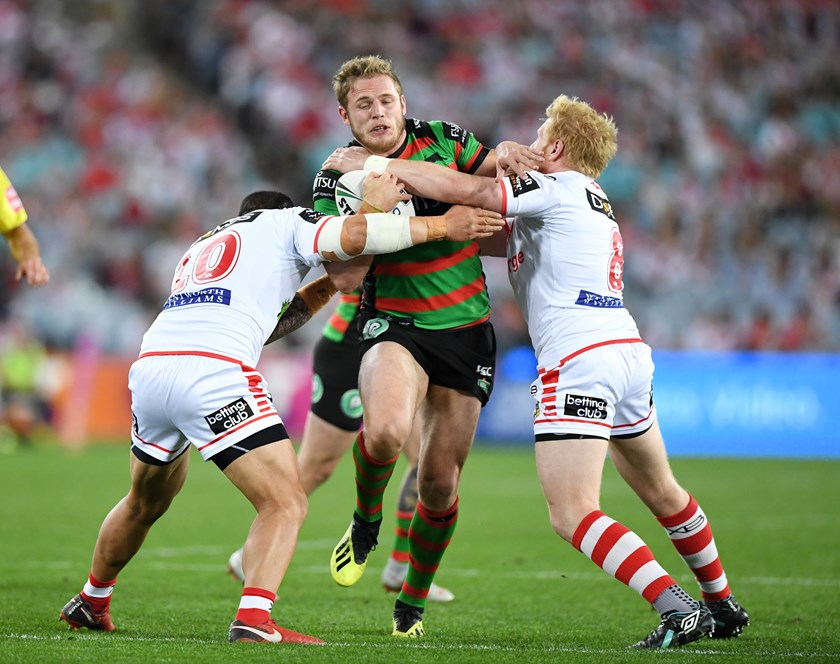 Rabbitohs prop Tom Burgess.