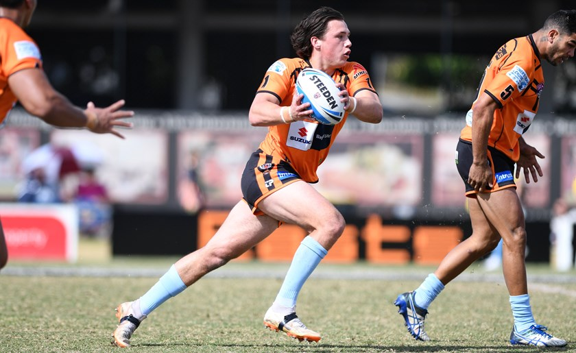 Scott Drinkwater in action for Easts Tigers in the Intrust Super Cup.