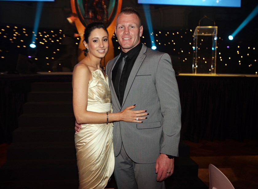 Sonia and Luke Lewis at the NRL Community awards.