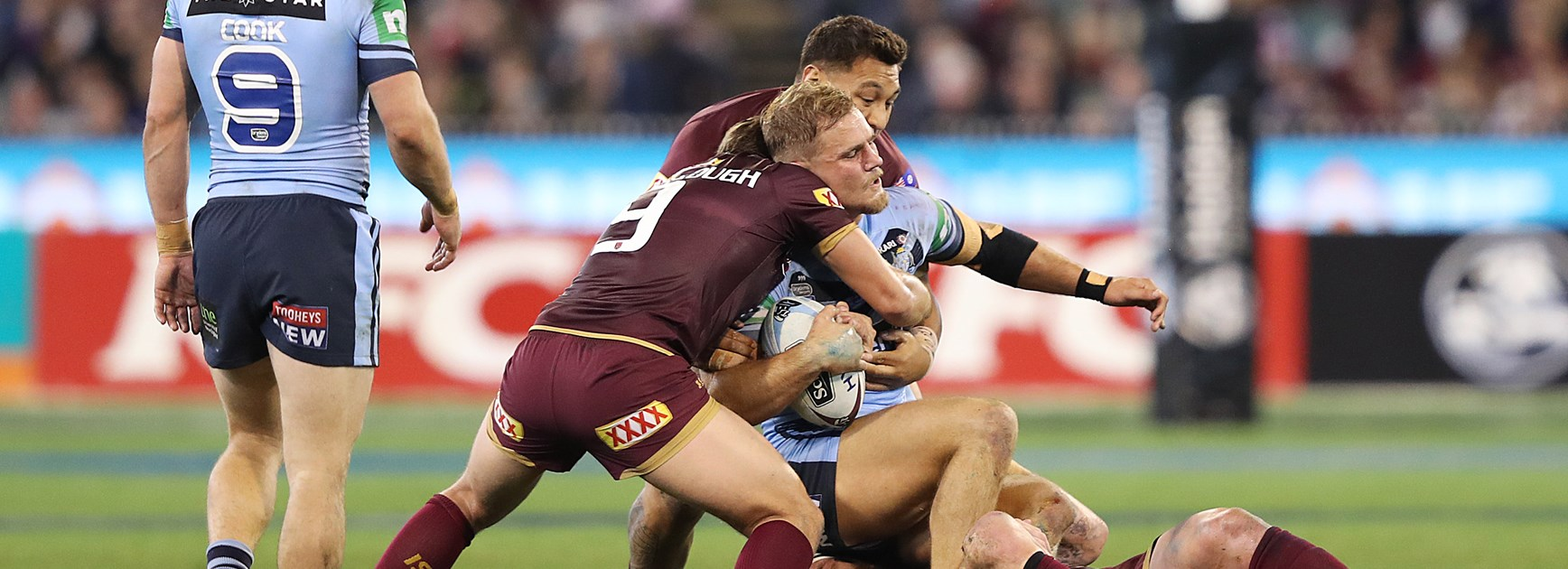 De Belin reveals Fittler warned Blues to ignore Maroons' niggling tactics