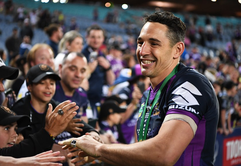 Billy Slater after the 2017 NRL Grand Final.
