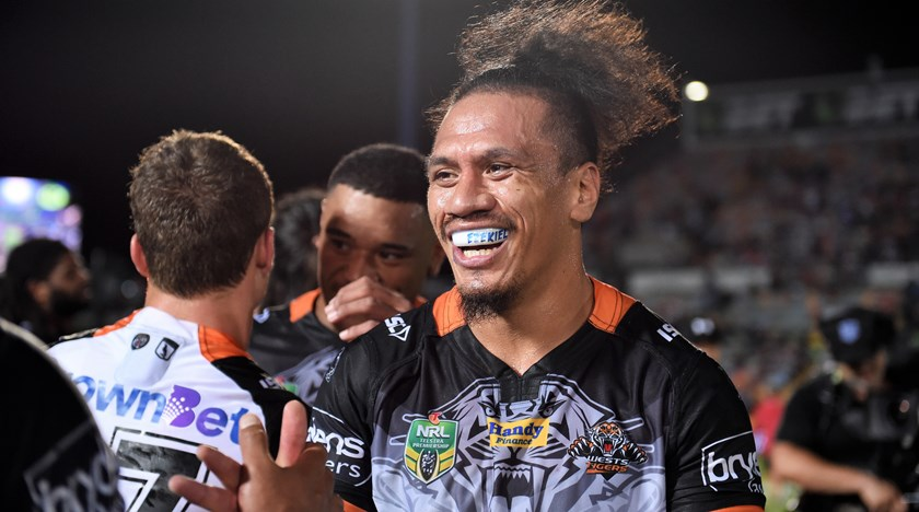 Wests Tigers forward Sauaso Sue.
