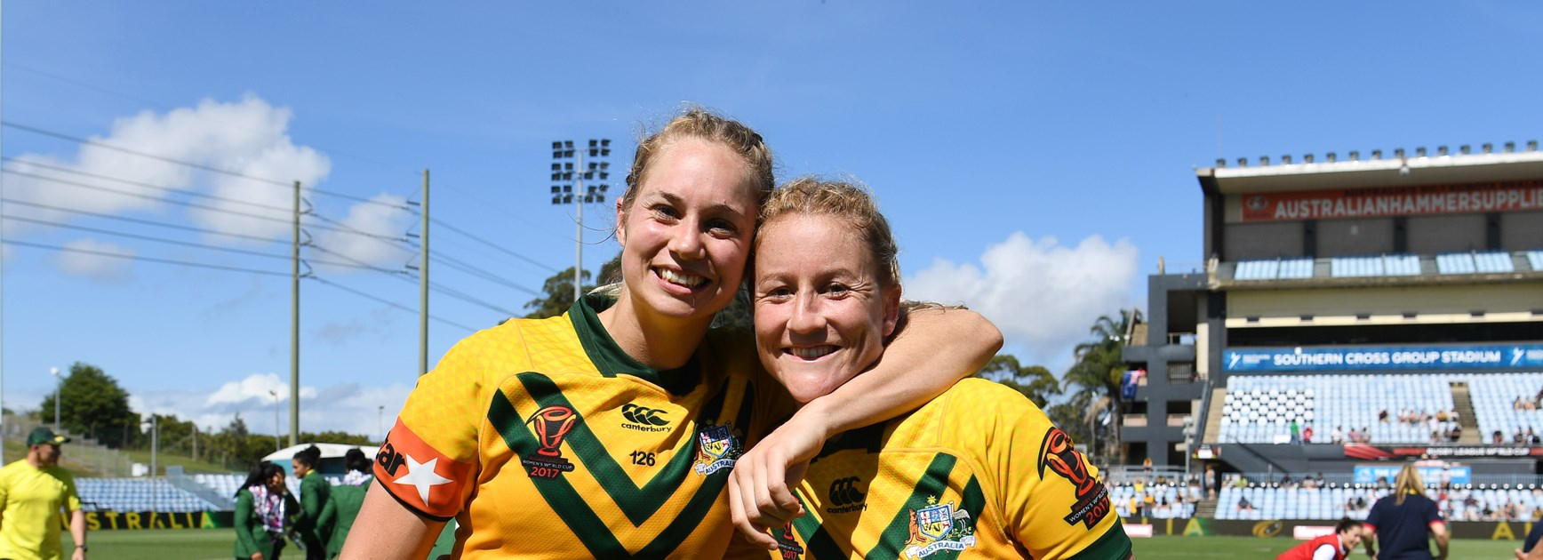 Jillaroos stars Kezie Apps and Talesha Quinn