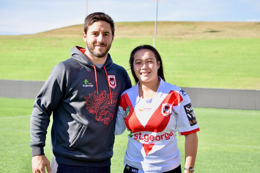 Ben Hunt with Raecene McGregor.