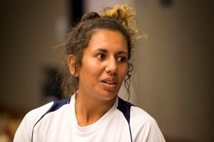 Women's league player Tallisha Harden.