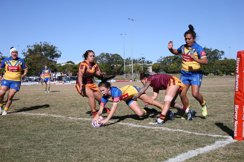 Action from the NSW City v NSW Country match.