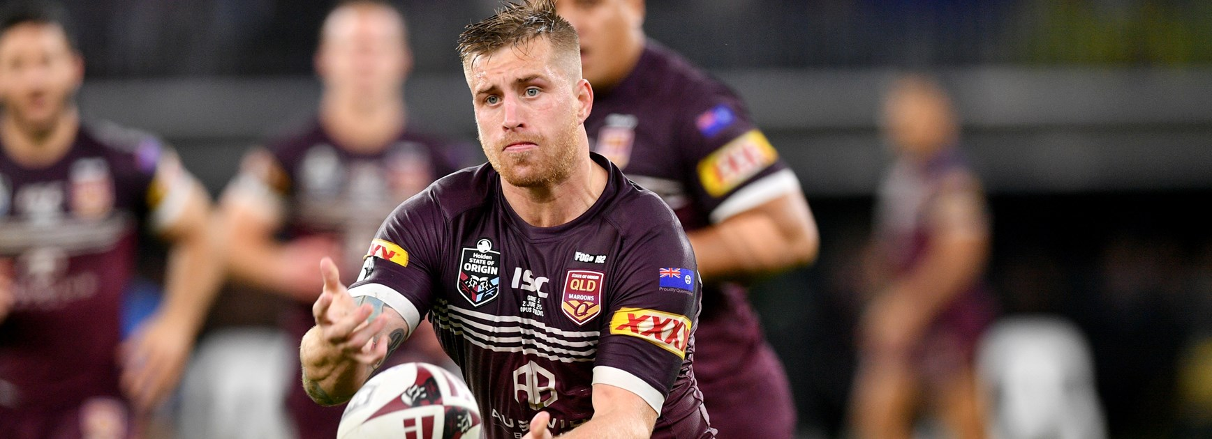 Maroons pivot Cameron Munster.