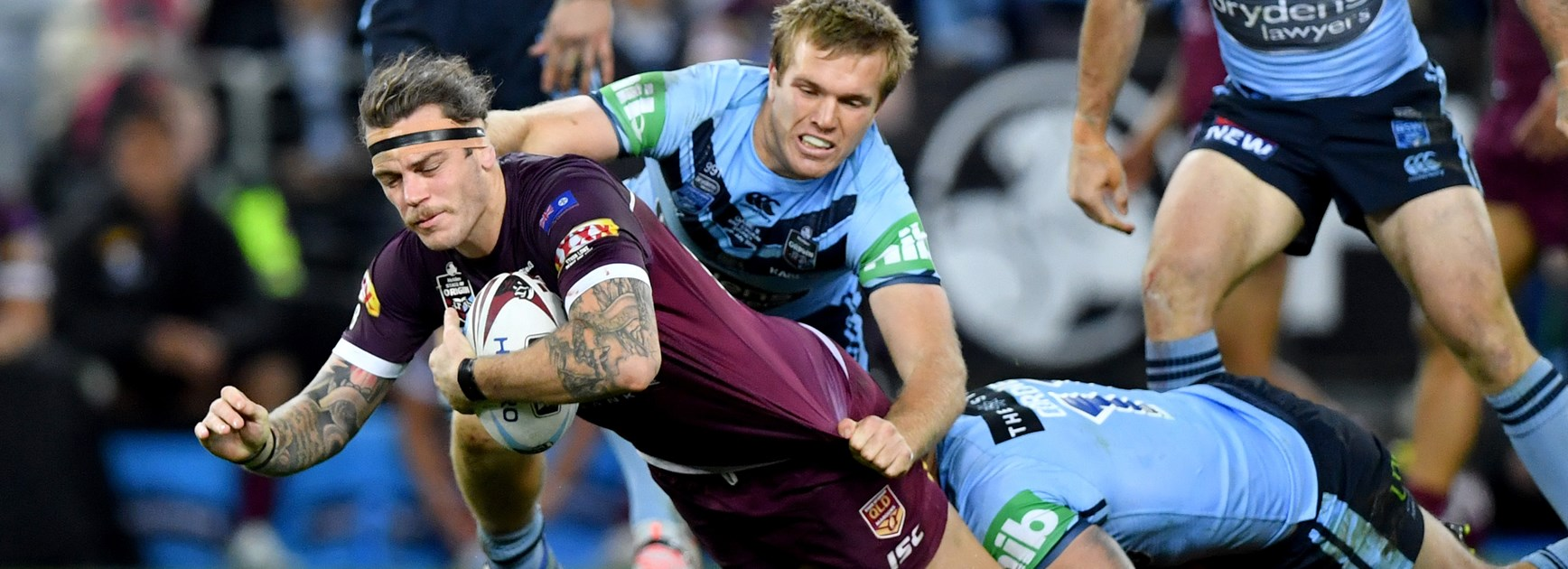 Maroons back-rower Ethan Lowe.