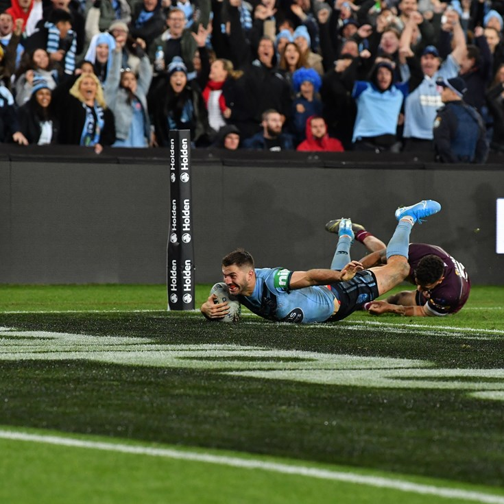 Tedesco scores last-gasp try for NSW to win Origin series over Maroons