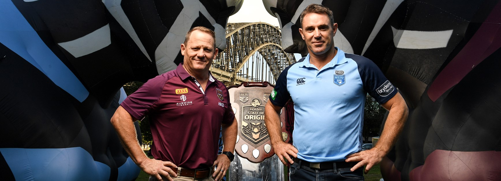 Maroons coach Kevin Walters and Blues counterpart Brad Fittler.