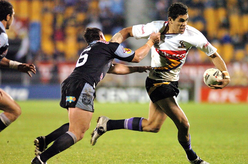 Greg Inglis during his debut season for the Storm.