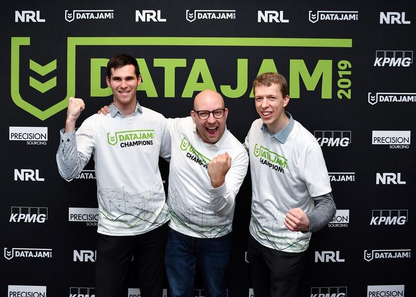 The 2019 DataJam winners from Suncorp.