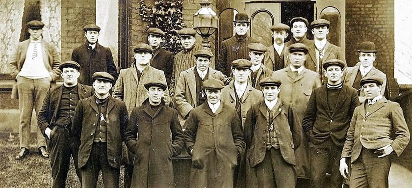 The 1908 Kangaroos team.