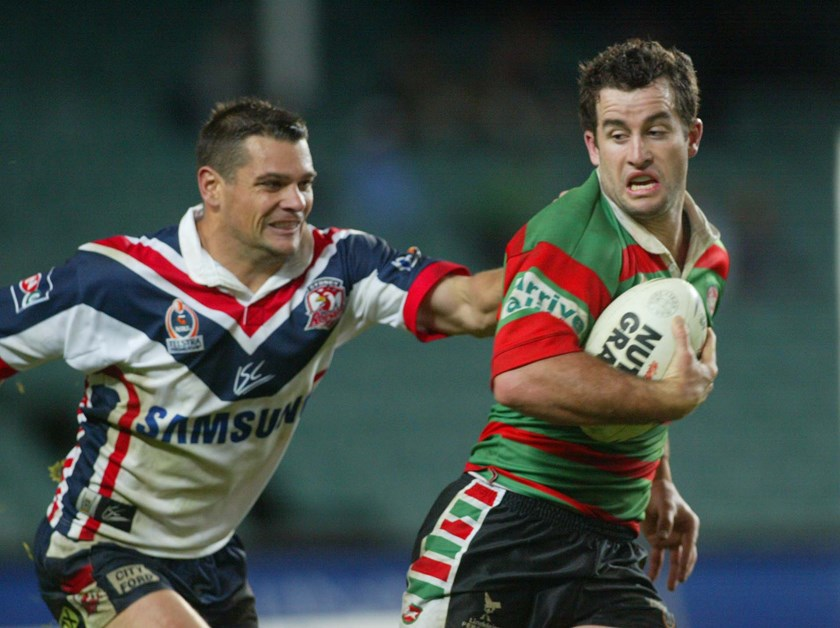 Taking on arch-rivals the Roosters for Souths in 2004.