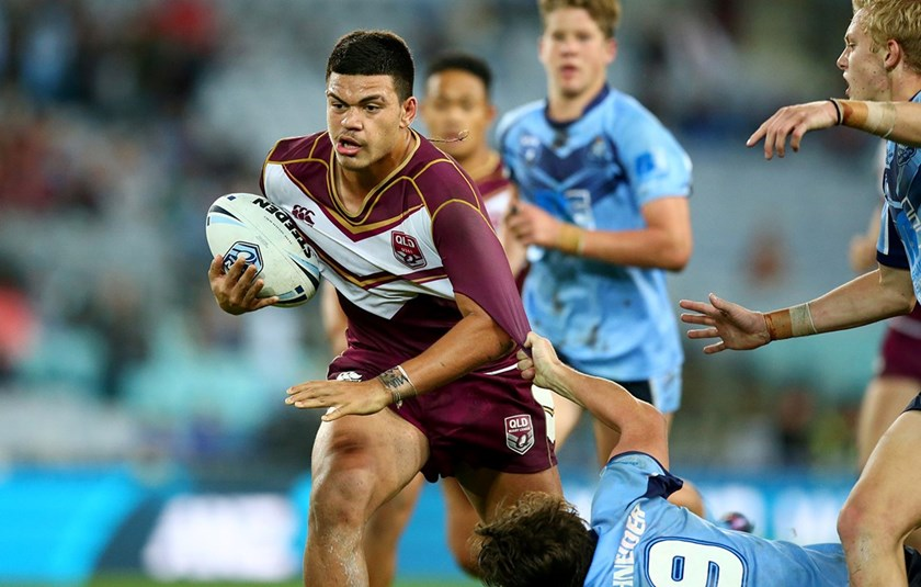 David Fifita playing for the Queensland under 16 team.