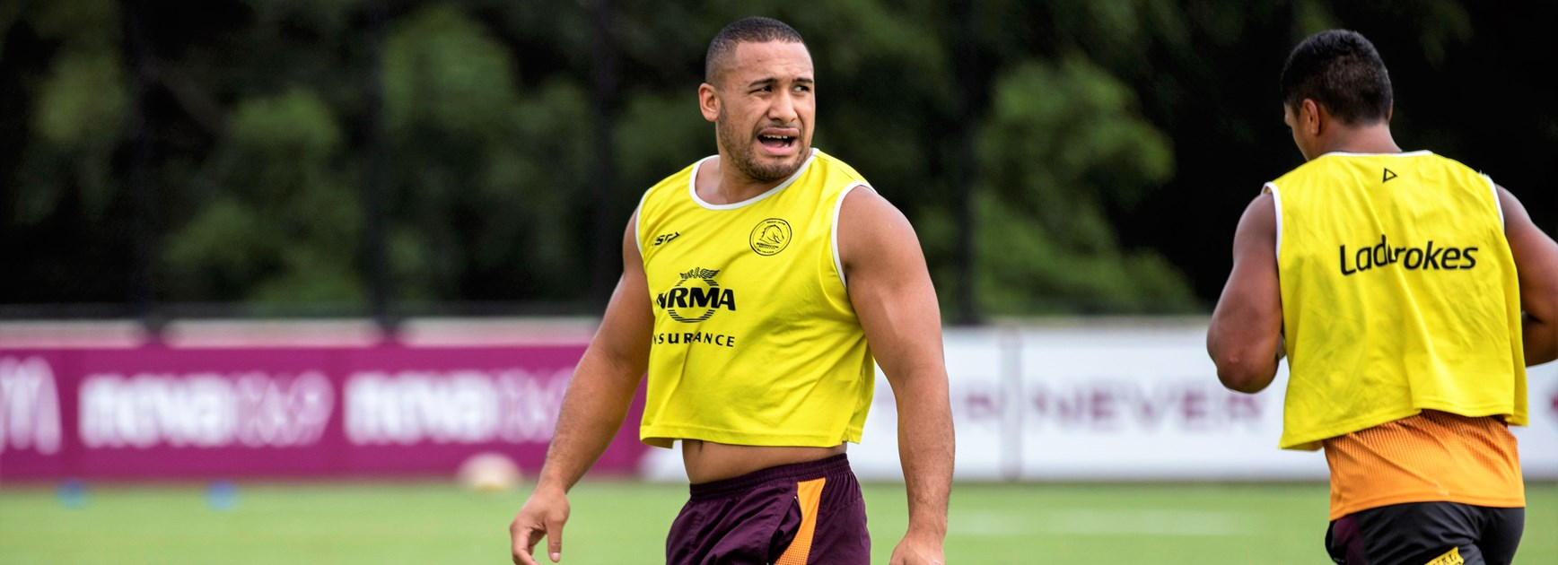 Redcliffe Dolphins forward Jamil Hopoate is trialling and training with the Broncos.