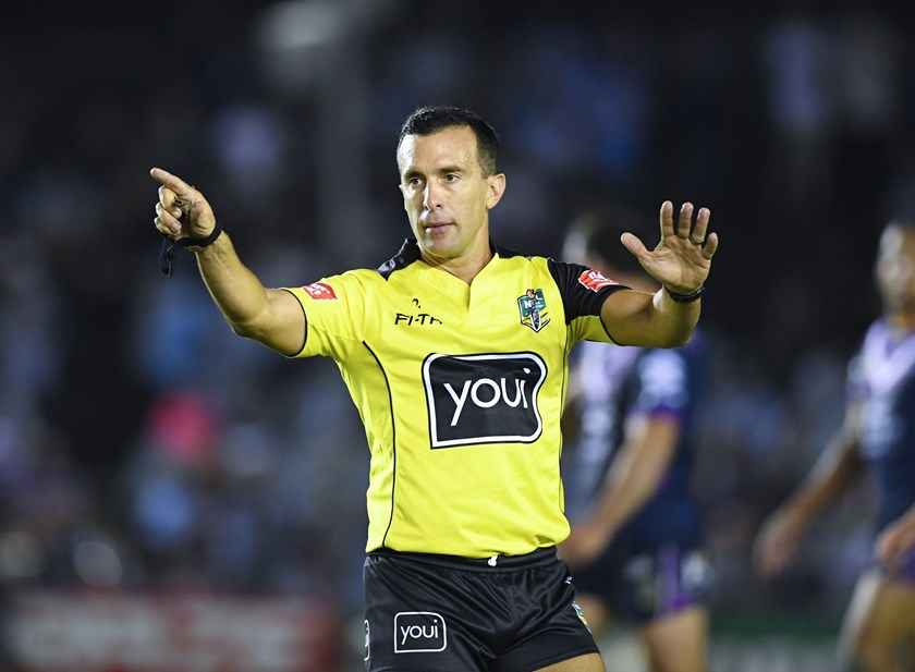 Veteran referee Matt Cecchin.