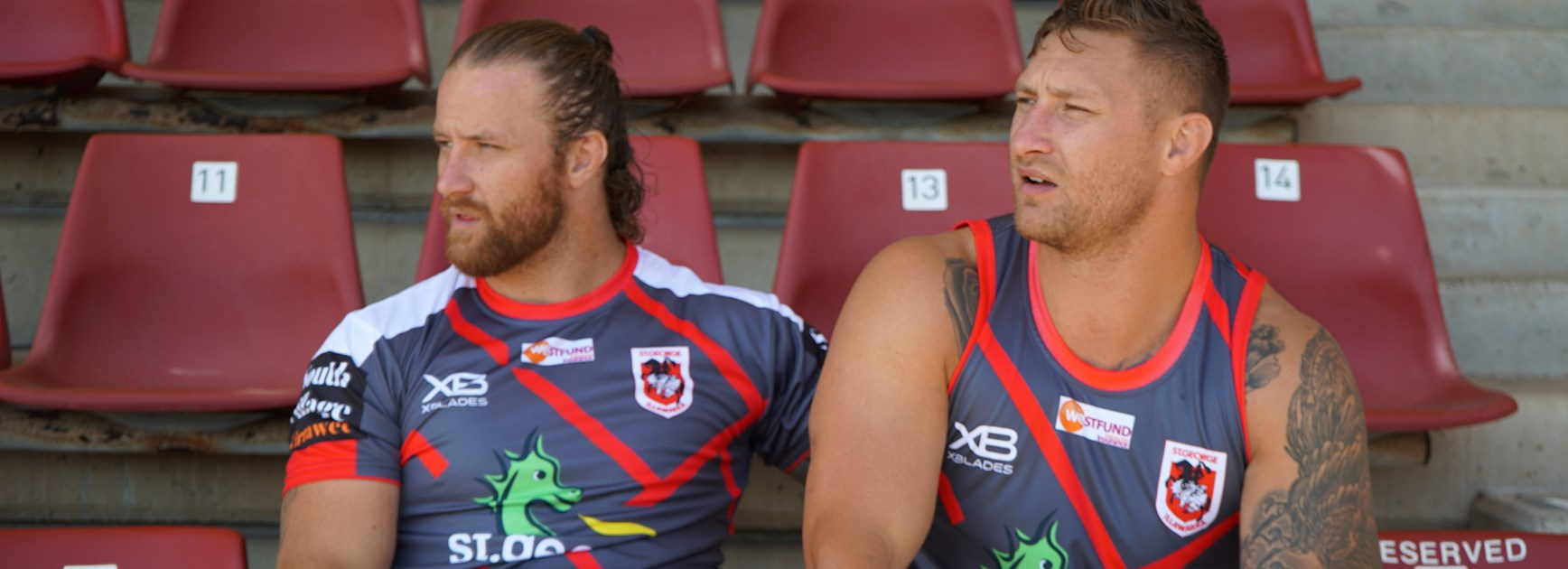 Dragons forwards, and brothers, Korbin and Tariq Sims.