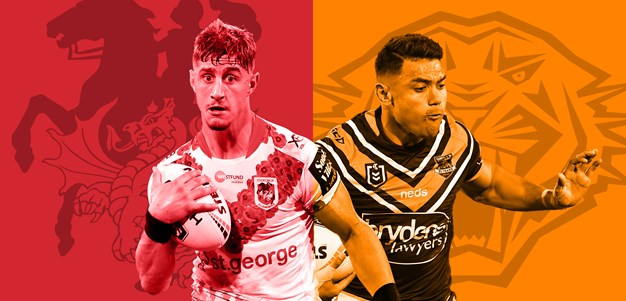 Dragons v Wests Tigers: Round 24 preview