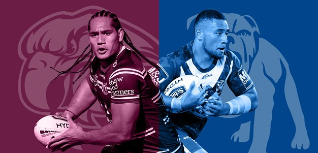 Sea Eagles v Bulldogs: Elgey in for DCE; Pay names same 17