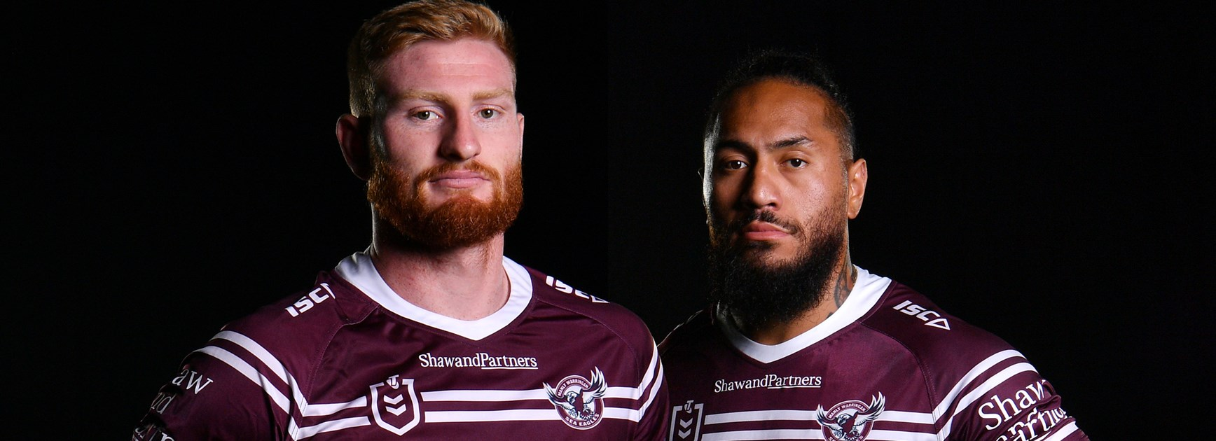Manly's new left edge Taufua and Parker the odd couple
