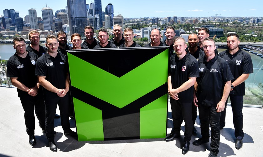 NRL players at the launch of Magic Round.