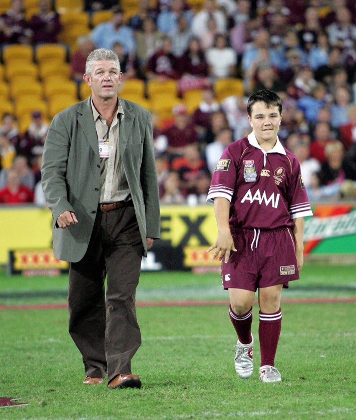Greg Dowling back on the Lang Park turf now known as Suncorp Stadium.