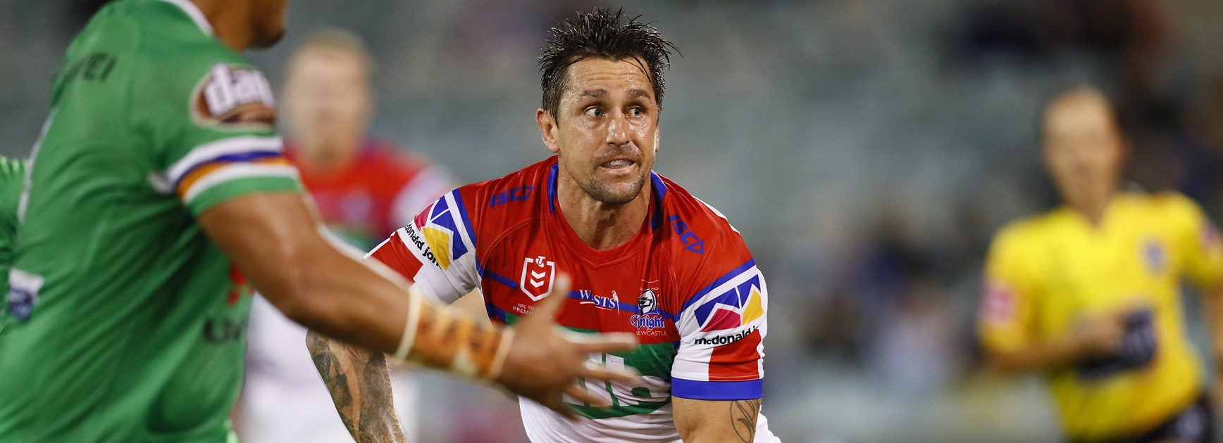 Knights halfback Mitchell Pearce