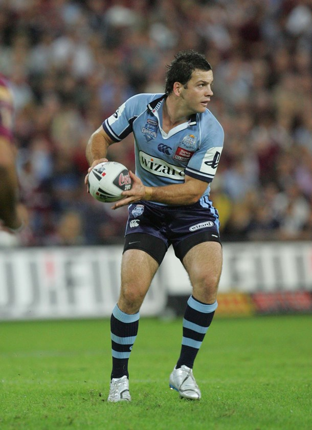 Jarrod Mullen in action for the Blues in 2007.