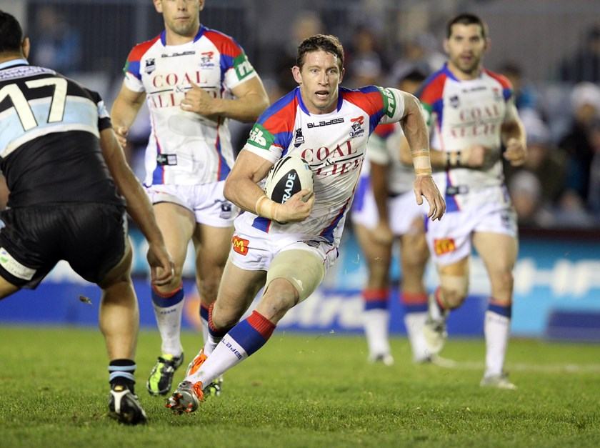Kurt Gidley in action for the Knights.
