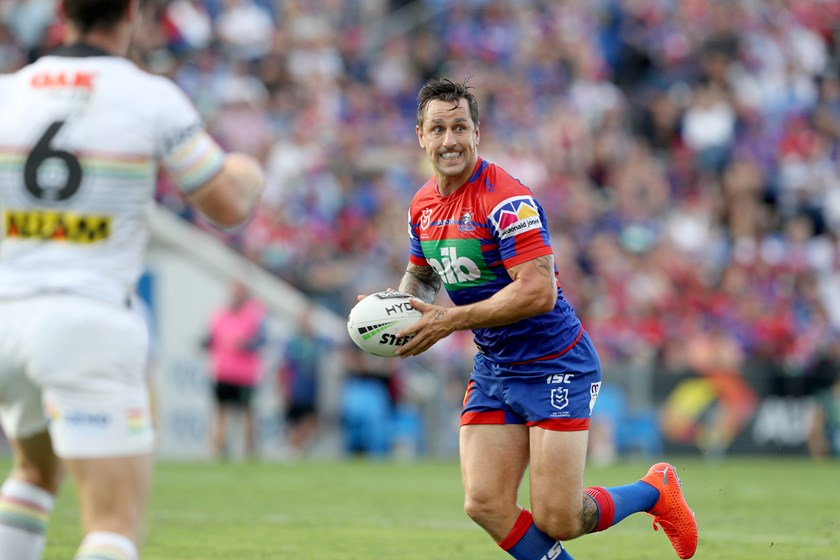 Knights halfback Mitchell Pearce.