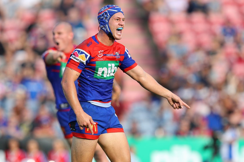 Kalyn Ponga has returned to fullback with the Knights.