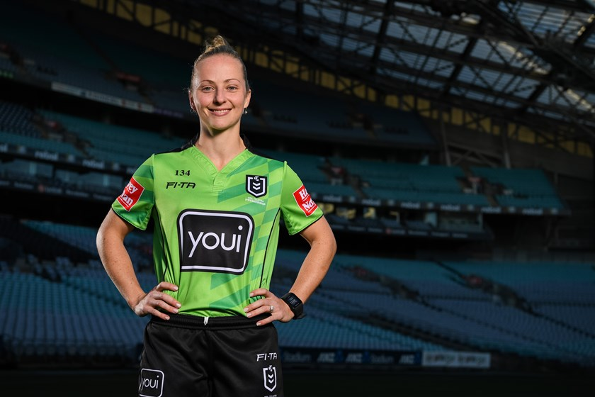 NRL referee Belinda Sharpe.