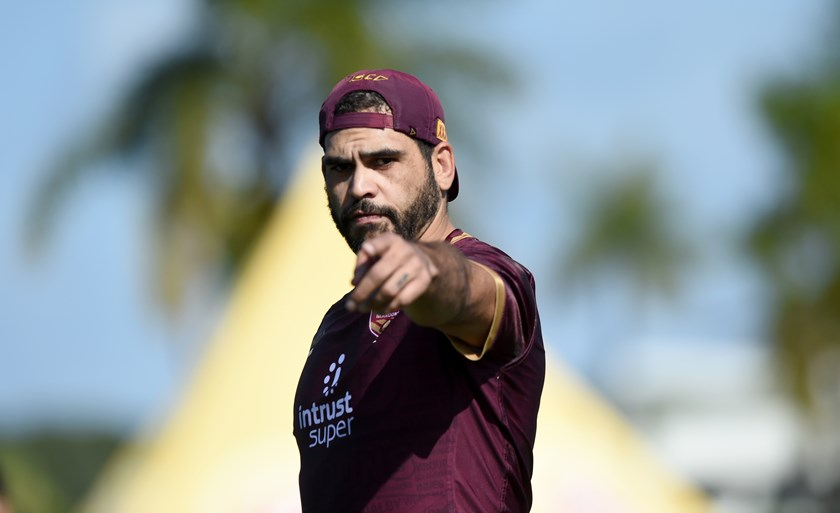 Greg Inglis during the 2018 Origin series.