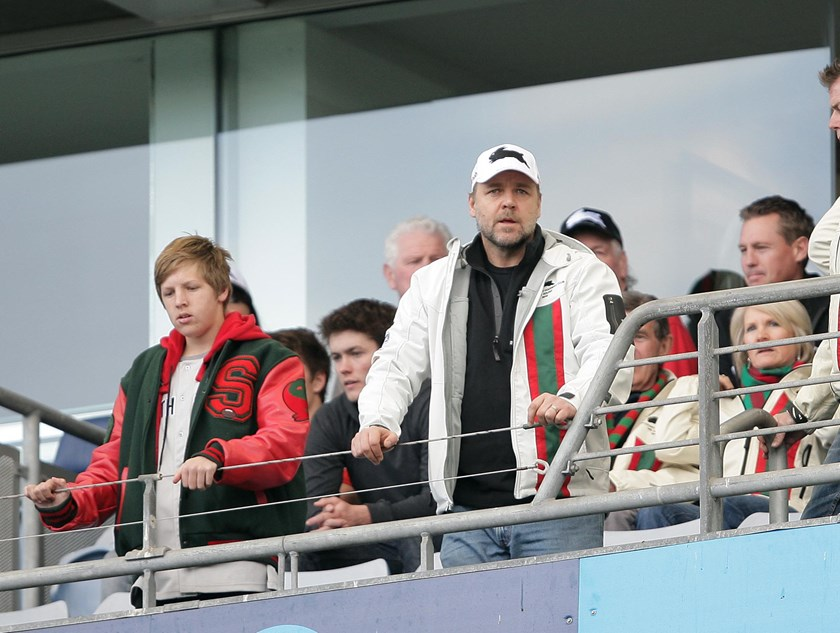 Rabbitohs owner Russell Crowe