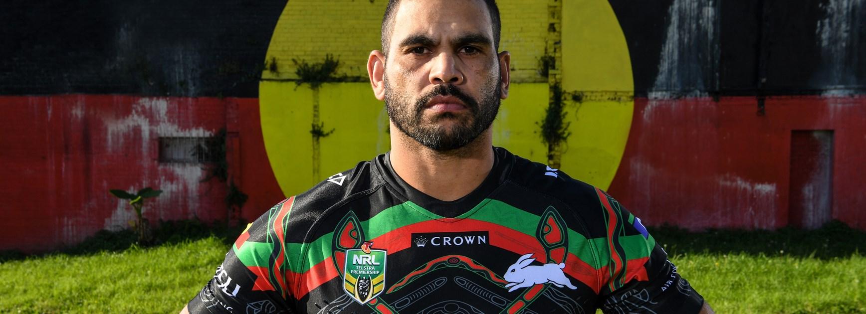 Greg Inglis in the 2018 Rabbitohs Indigenous Round jersey
