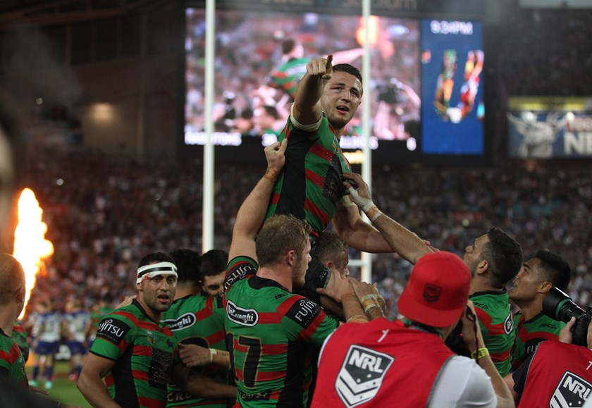 Burgess after the 2014 grand final.