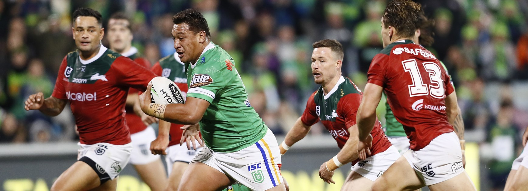 Canberra Raiders pack leader Josh Papalii.