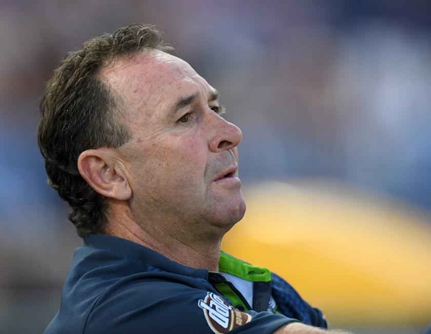 Raiders coach Ricky Stuart.