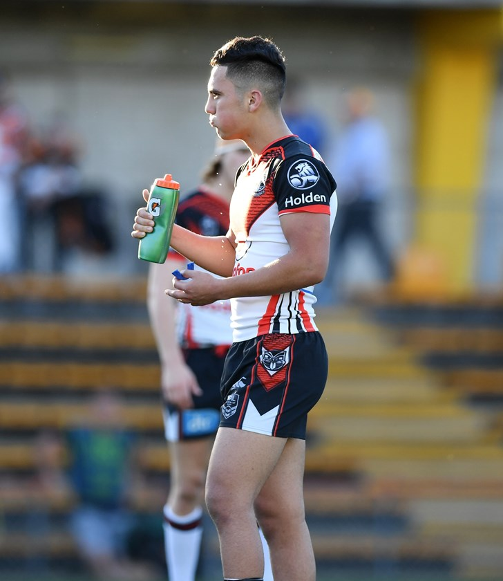 Kayal Iro playing for the New Zealand Warriors under-20s in 2017.