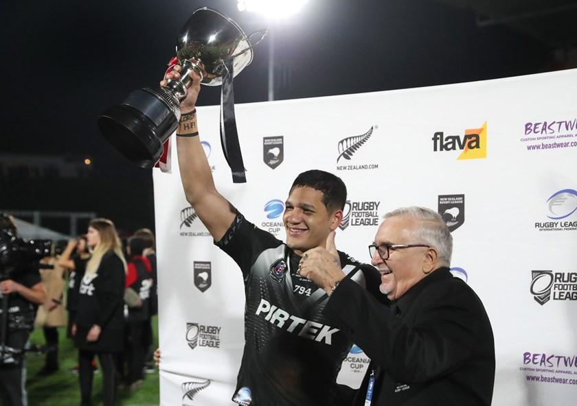 New Zealand captain Dallin Watene-Zelezniak.